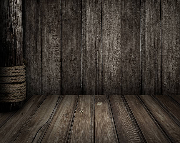 alte hölzerne szene und piraten-thema hintergrund - piratenzimmer themen stock-fotos und bilder