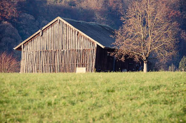 alte hölzerne shack - burghausen stock-fotos und bilder