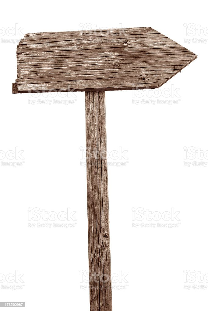 Old wooden sign stock photo