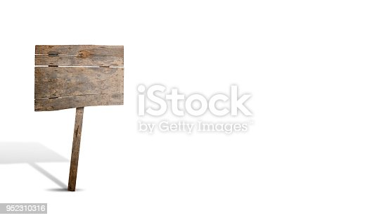 istock Old wooden sign with copy space 952310316