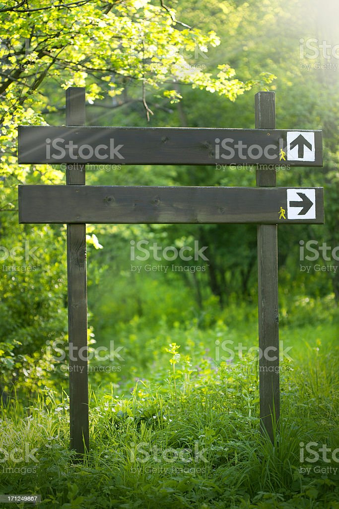 Old wooden signs royalty-free stock photo