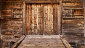 Old wooden stable door