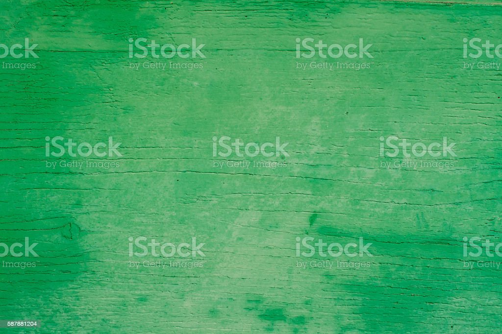 Old wooden surface painted green stock photo