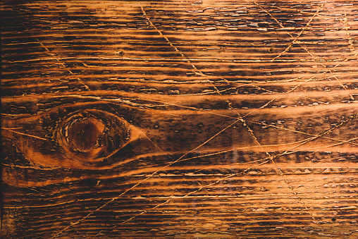 Old wooden surface with scratch and stains