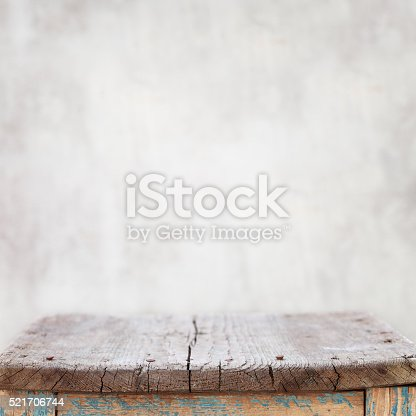 Old wooden surface on wall background.