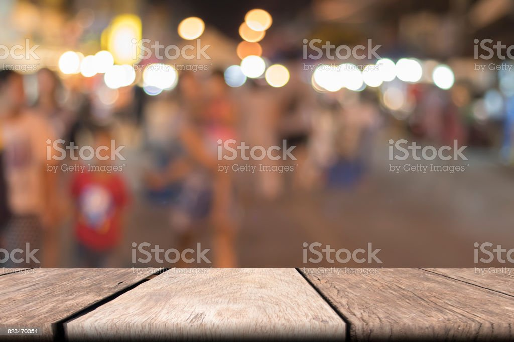 Old wooden table of brown copy space. mock up stock photo