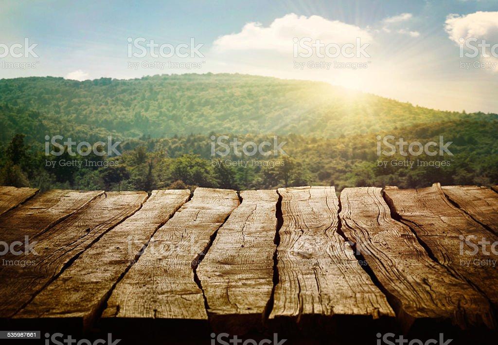 Vieille table en bois - Photo
