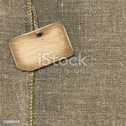istock Old wooden tag 120985015