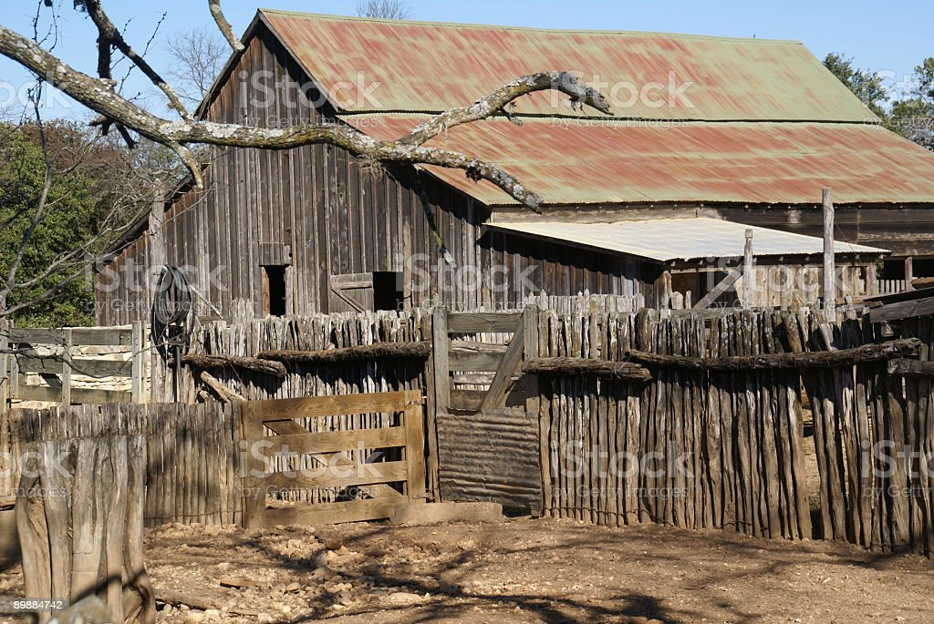 Old wooden Texas barn royalty-free stock photo