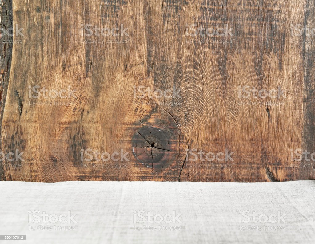 Old wooden texture background with fabric stock photo
