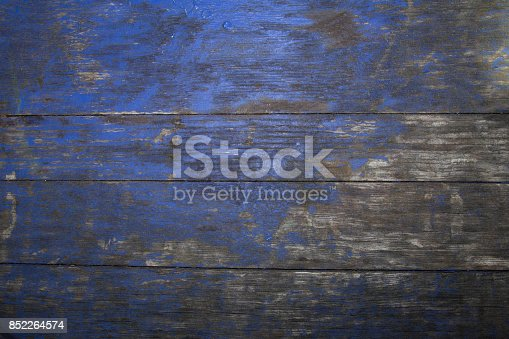 Old wooden texture can be used as background blue and grey