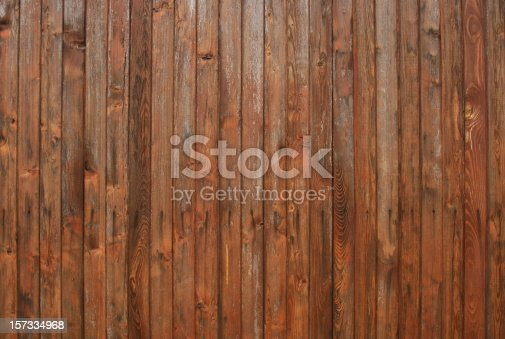 Part of an old hardwood fence from a northern Hungarian little town, Esztergom.