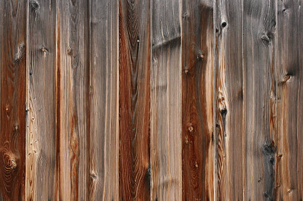 old wooden texture - palisade boundary stock photos and pictures