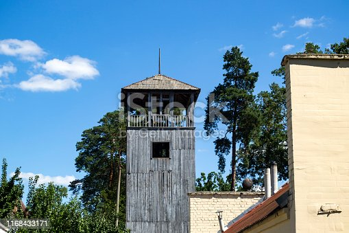 Old wooden tower.