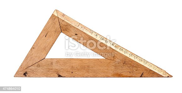 istock Old wooden triangle 474864010