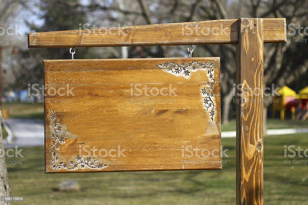 Old wooden vintage sign royalty-free stock photo