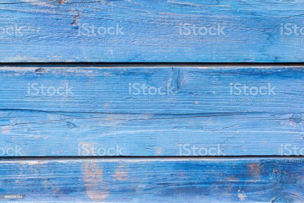 gamla trävägg målade blå - Royaltyfri Abstrakt Bildbanksbilder