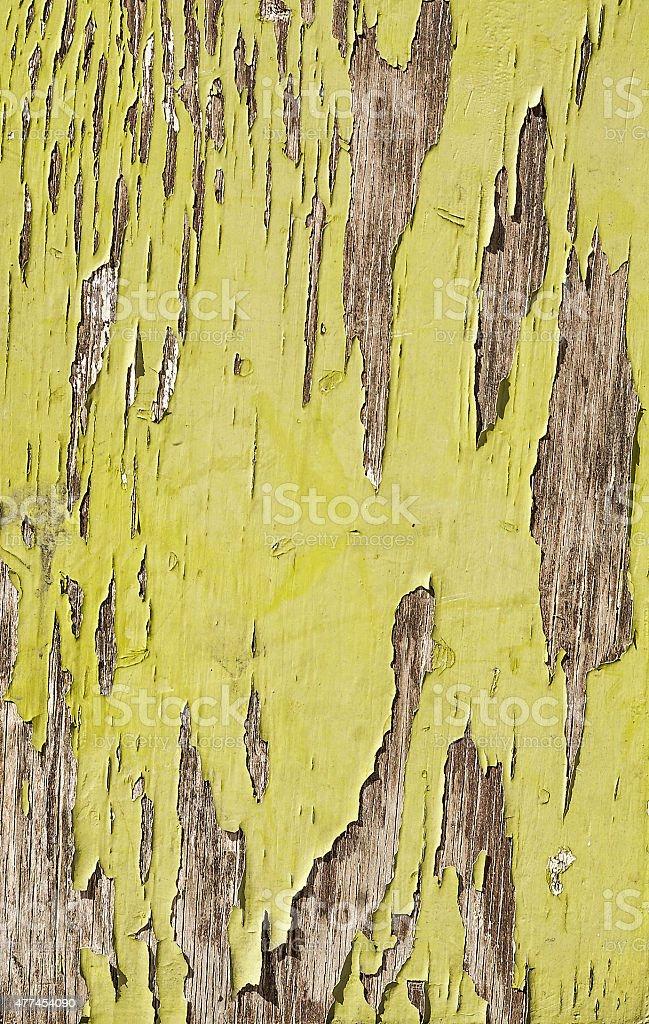 Velho pintado na parede de madeira marrom com fundo grunge, fenda - foto de acervo