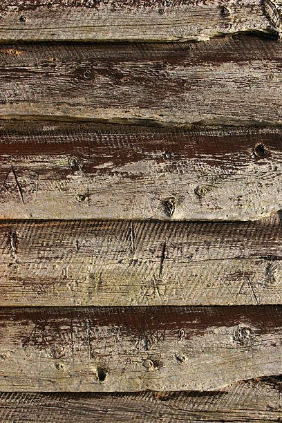Old wooden wall stock photo