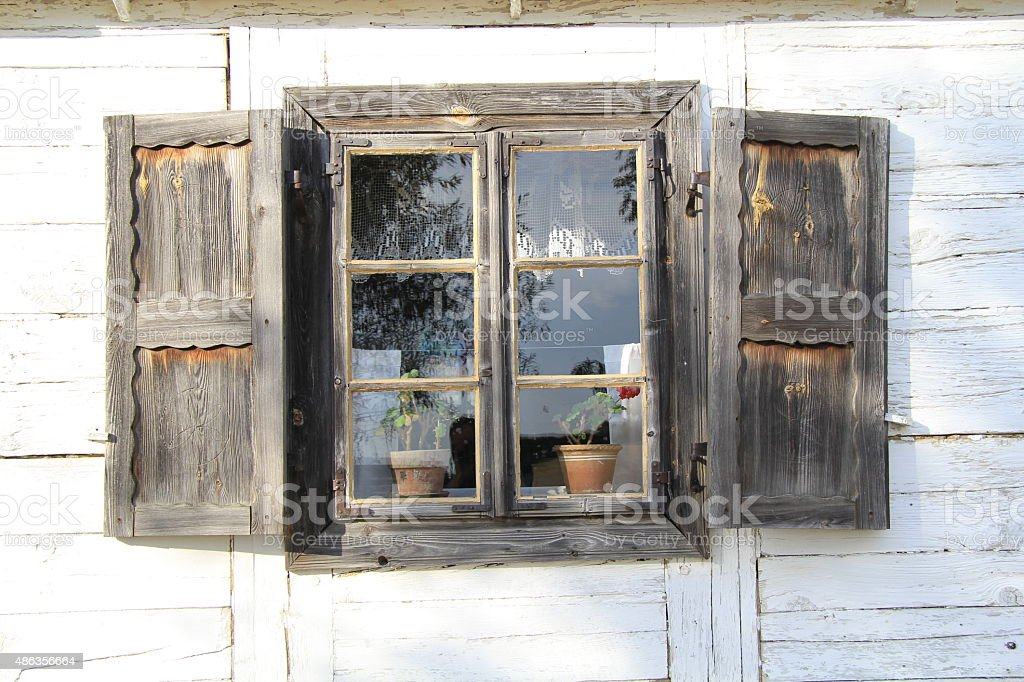 Old Wooden Window 3 stock photo