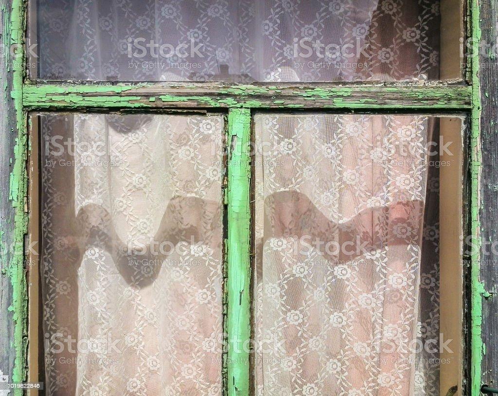 Photo Libre De Droit De Ancien Cadre De Fenêtre En Bois Avec
