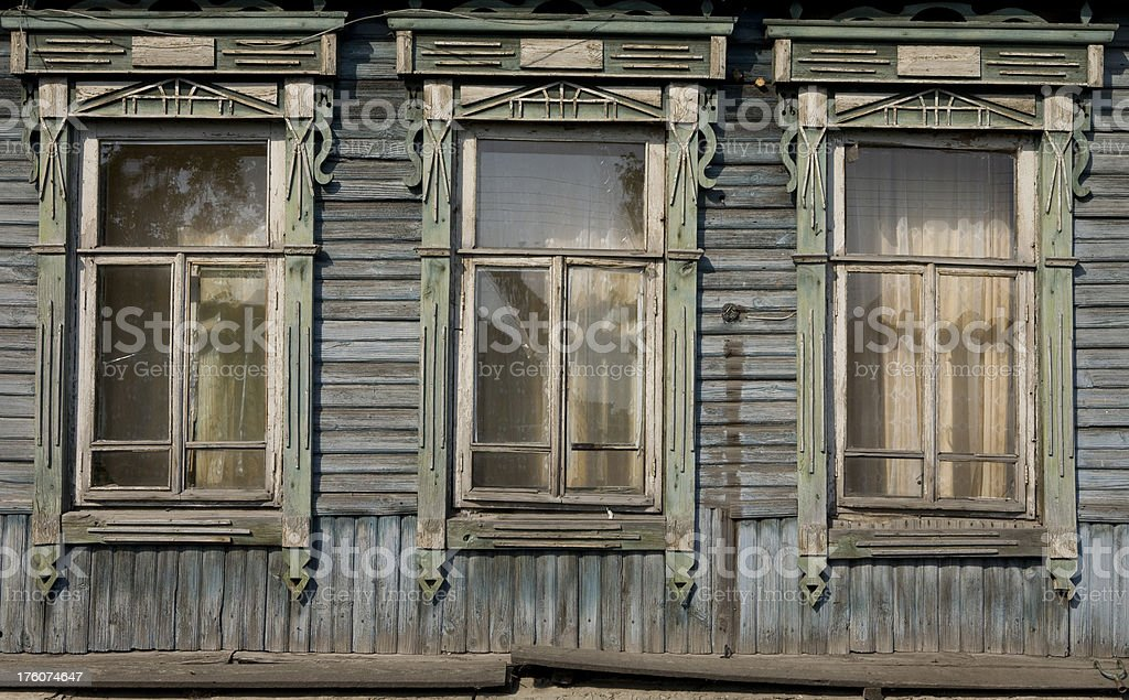 Alte Holz Fenster In Russland Stock-Fotografie und mehr Bilder von ...