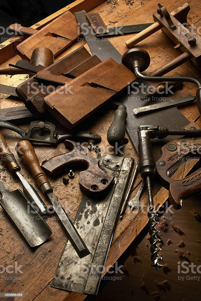 Old Woodworking Tools Stock Photo More Pictures Of Antique Istock