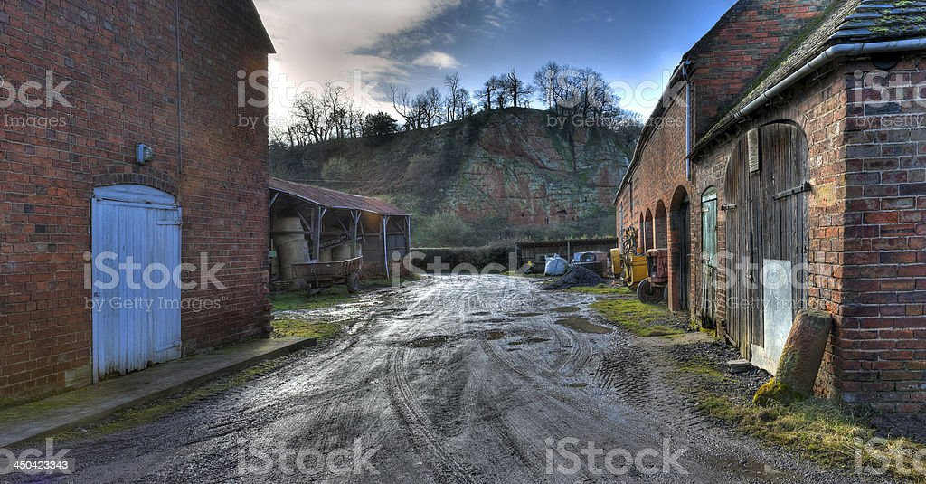 Old Worcestershire farmyard stock photo