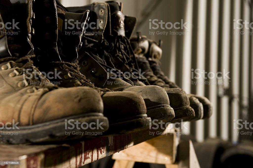 Old Work Boots stock photo