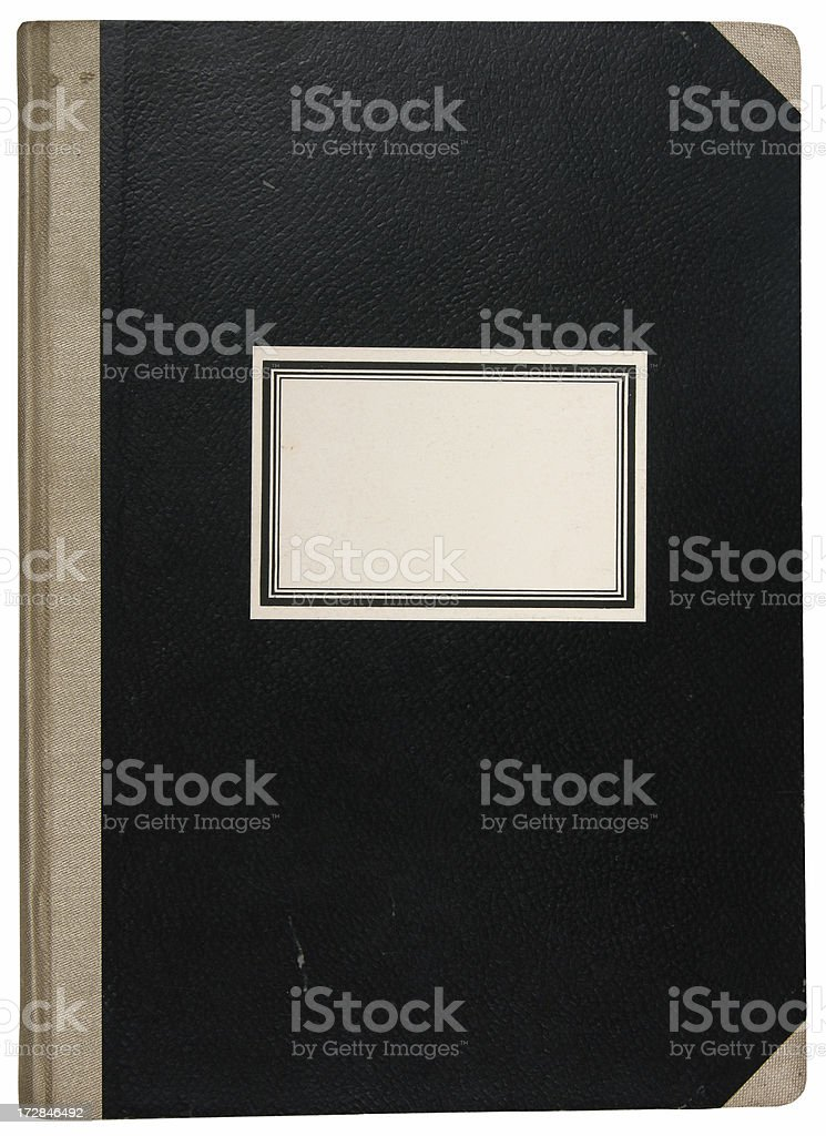 Old Workbook stock photo