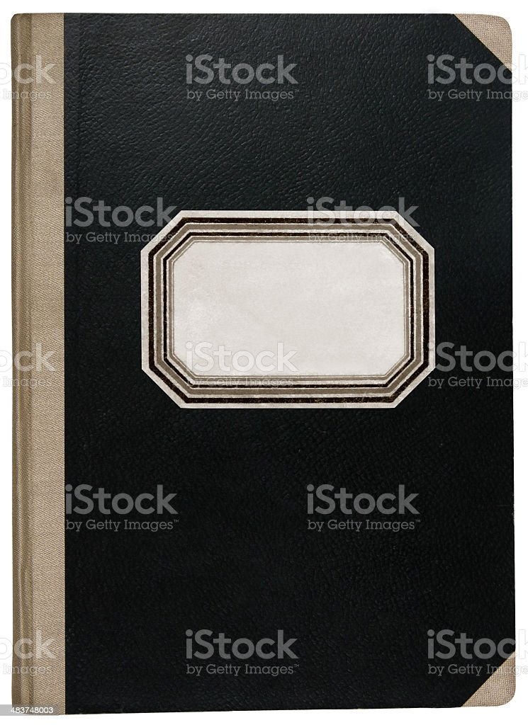 Old workbook royalty-free stock photo