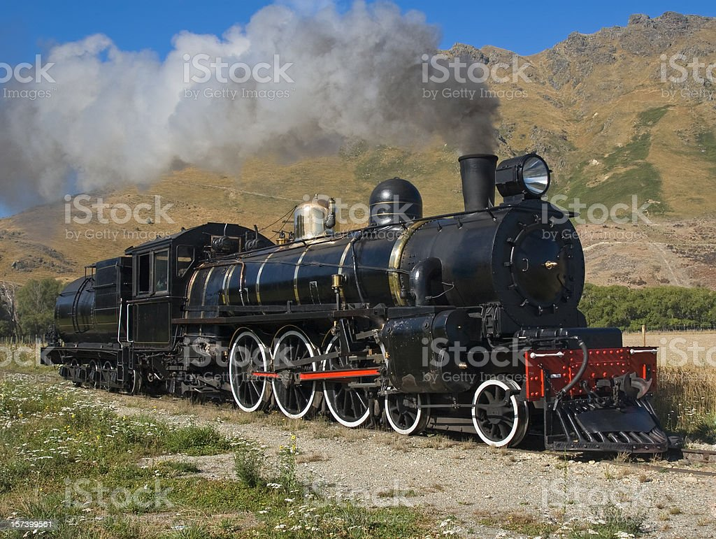 Old working steam engine stock photo