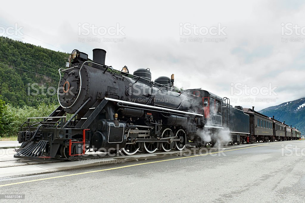 Old Working Steam Train At Skagway Alaska Stock Photo & More ...