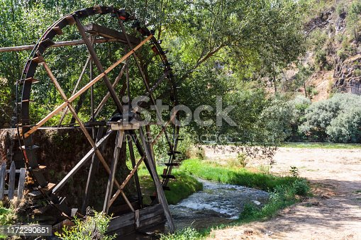 Old Working watermill wheel