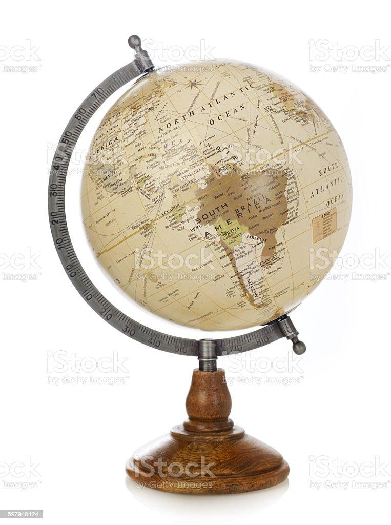 Velho mundo globo foto royalty-free