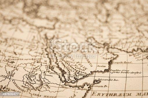 Old world map arabian peninsula stock photo more pictures of 18th old world map arabian peninsula stock photo more pictures of 18th century istock gumiabroncs Images