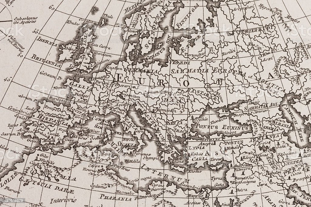 Old world map europe stock photo more pictures of 18th century old world map europe royalty free stock photo gumiabroncs Images
