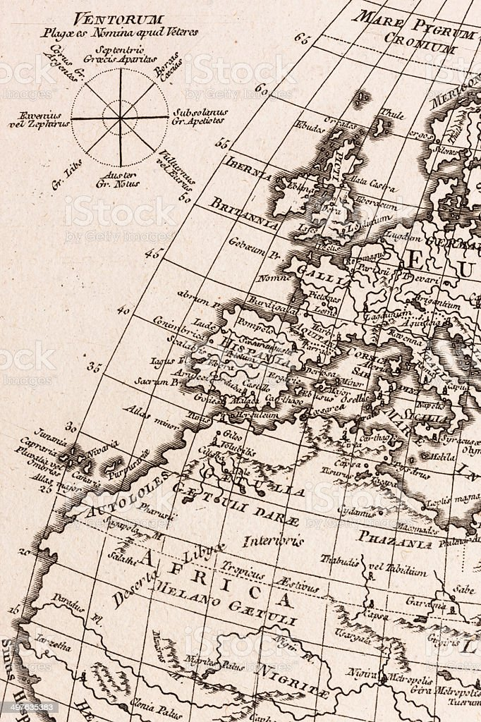Old World Map Europe Stock Photo More Pictures Of Th Century - Old world map black and white