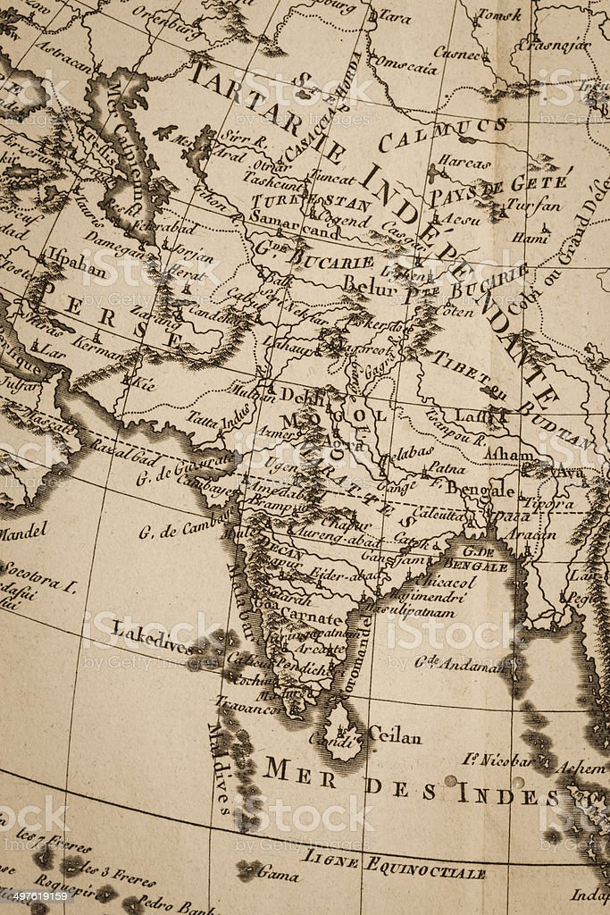 Old world map india stock photo more pictures of 18th century istock old world map india royalty free stock photo gumiabroncs Images