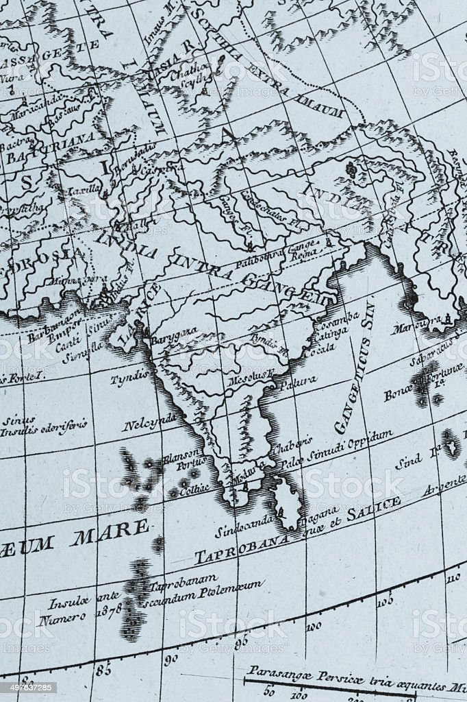 Old world map india stock photo more pictures of 18th century istock old world map india royalty free stock photo gumiabroncs Gallery