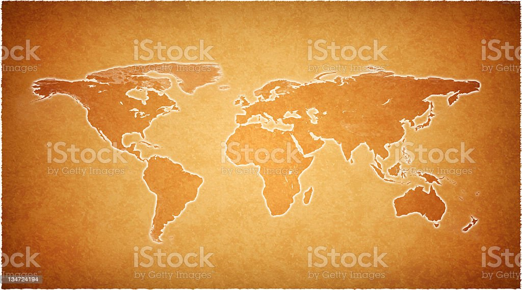Old world map royalty-free stock photo
