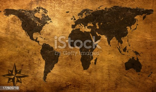 istock Old world map 172920710