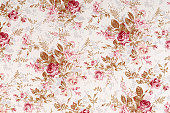 istock Old World Rose Antique Floral Fabric 157694336