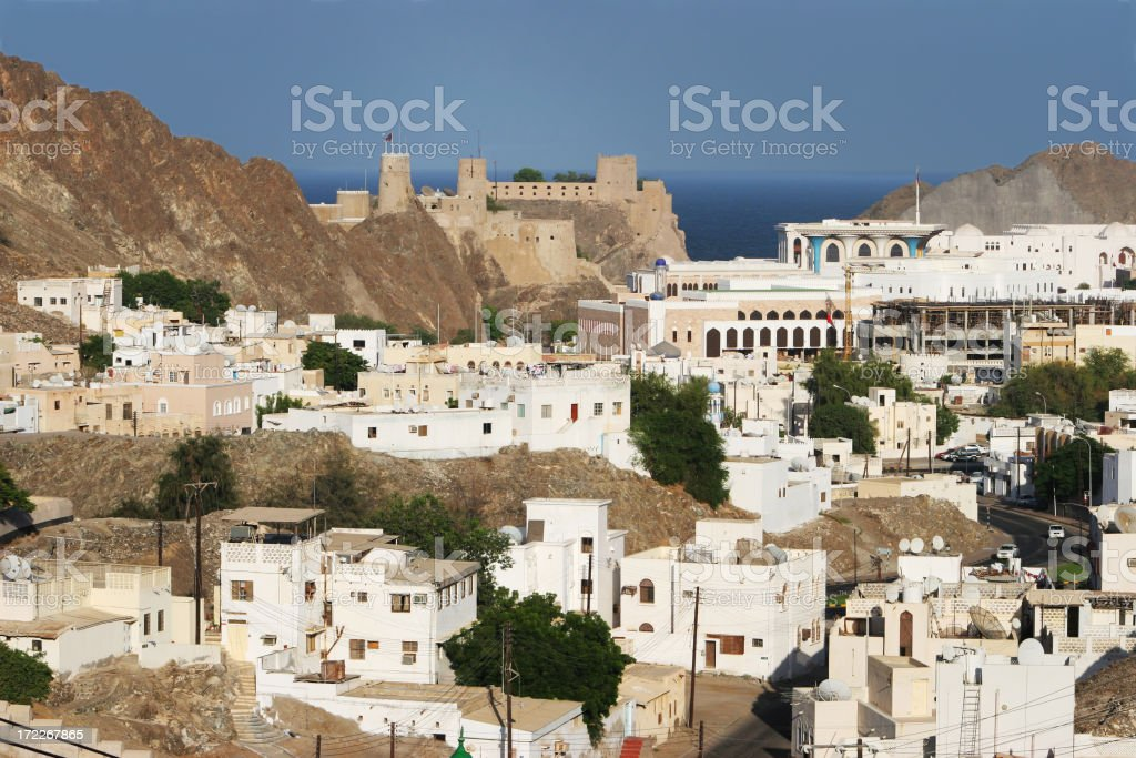 Old World Town View stock photo