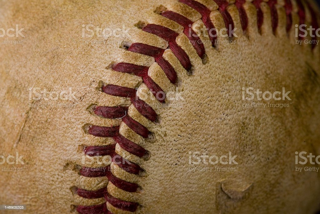 Old worn baseball stock photo
