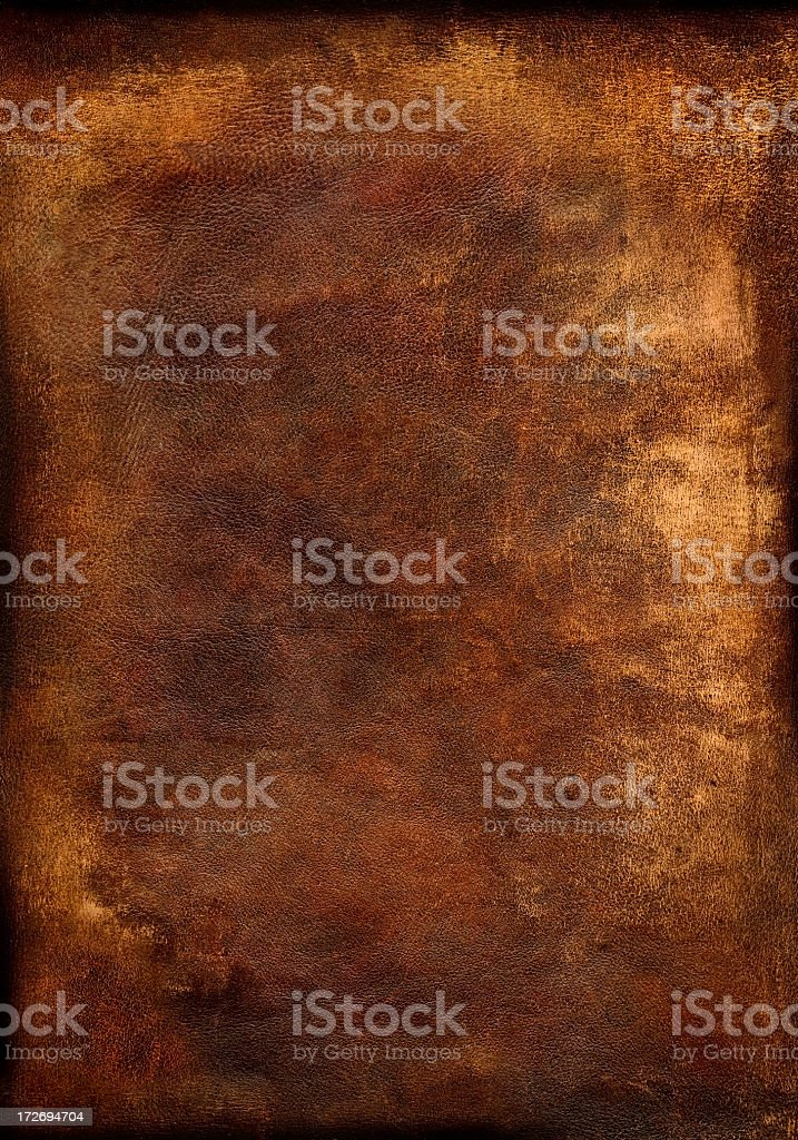Old, worn brown leather background detailing royalty-free stock photo