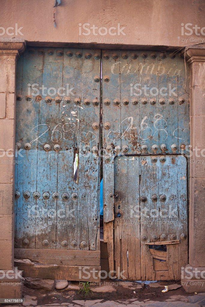 Old worn door stock photo