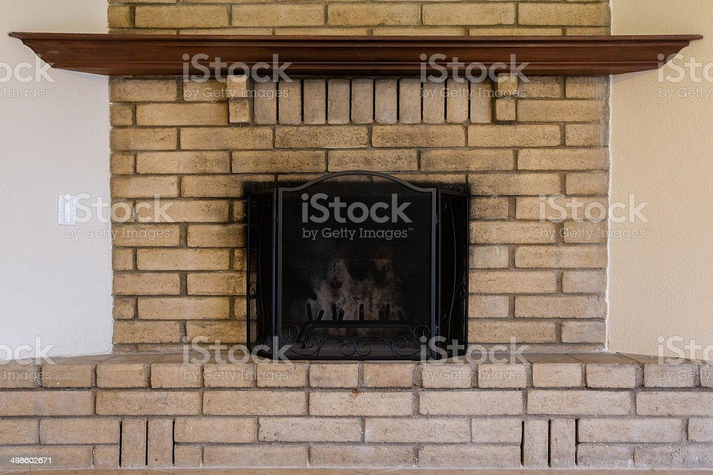 Old Worn Fireplace royalty-free stock photo