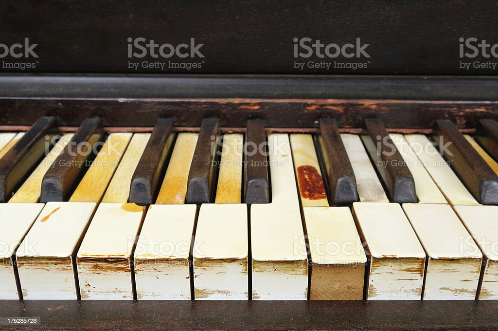 Old Worn Out Piano royalty-free stock photo