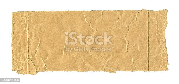 istock Old worn paper background textured isolated 993644366